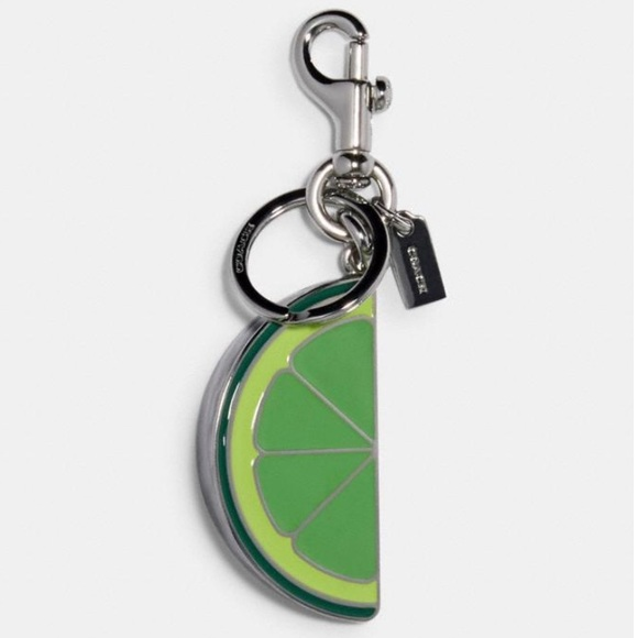 Coach Lime Slice Bag Charm Key Ring - NWT